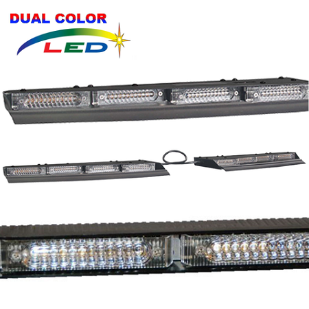 Astonishing dual color interior lightbar photos simple design home star ulb28 lineum x dual color visor bar mozeypictures Image collections