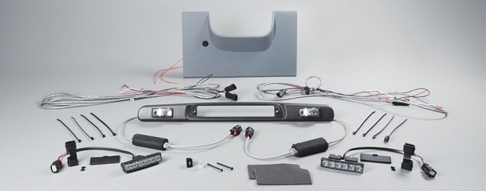 SoundOff Signal - Ford F-250, F-350 SD Four Corner Strobe Kit