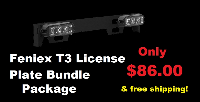 Feniex T3 License Plate Bundle Package