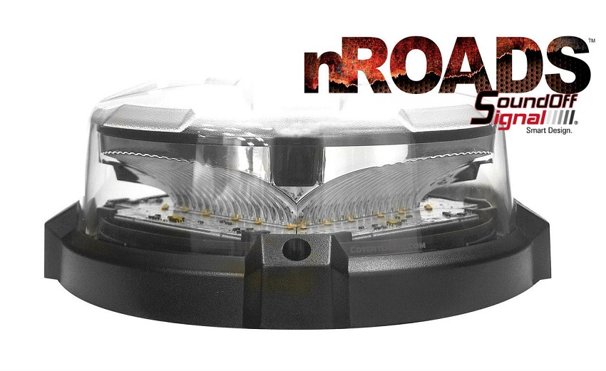 SoundOff Signal nRoads Low Dome Led Beacon (TRI-Color)